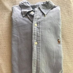 Chambray Button Down Short Sleeve Ralph Lauren